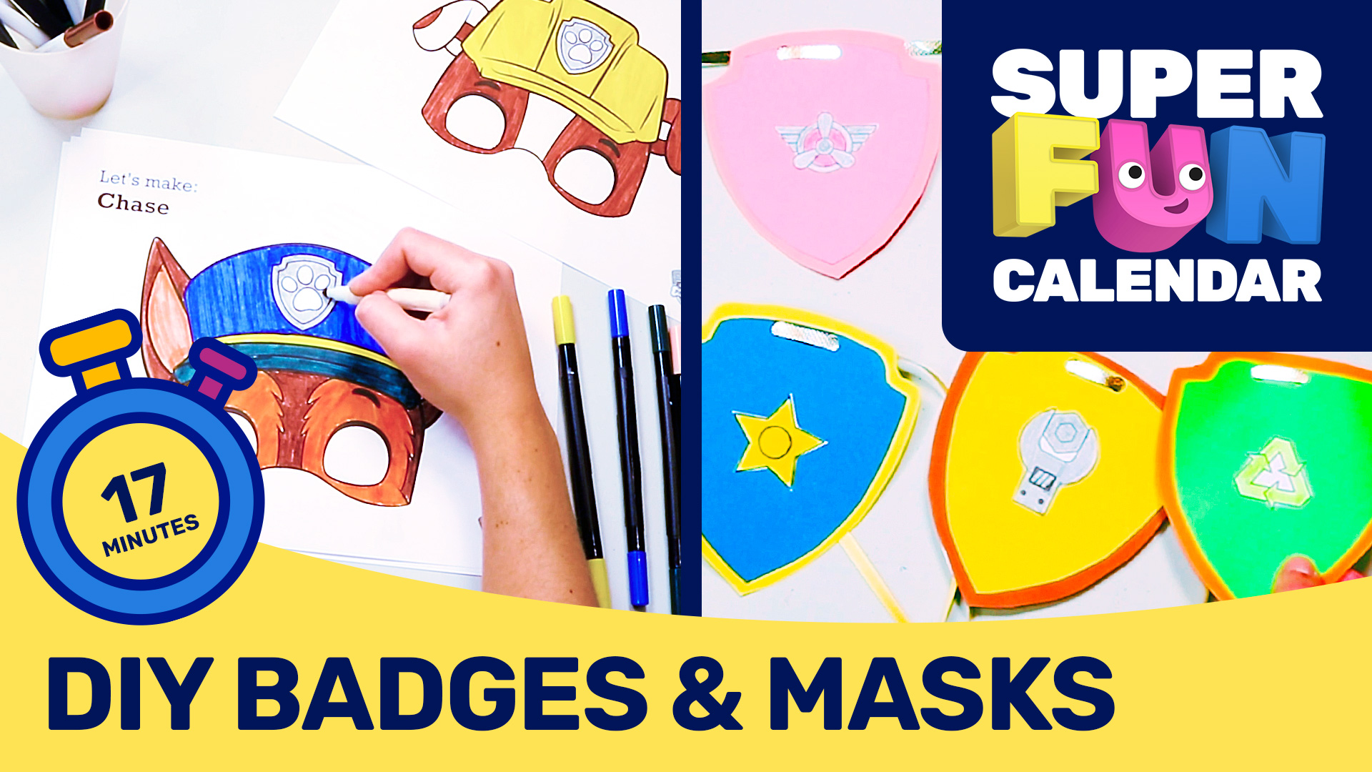 Paw Patrol - Make Your Own Badge and Mask!